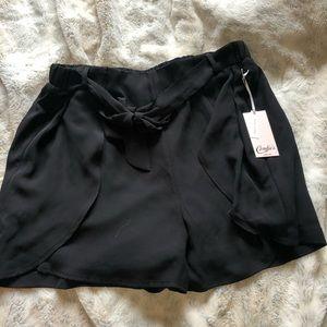 Black skort candies dress shorts NWT front tie XL